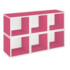 Way Basics, zBoard Eco 40.2 in. x 25.6 in. Pink Stackable Modular 6-Cube Storage, PS-MC-6-PK at The Home Depot - Tablet