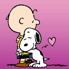 Snoopy & Charlie Brown  --  Heartfelt Hugs