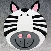 Icinghouse zebra face childrens cake making kit