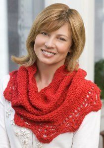 Bright Red Shimmer Cowl | FaveCrafts.com