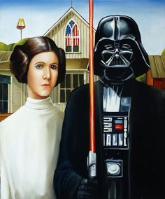 starwars. American Gothic parody-that's awkward its father and daughter shouldn't it be padma