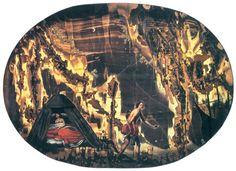 Episode from Ludovico Ariosto's Orlando Furioso, painted on stone. Museo Opificio delle Pietre Dure, Florence.