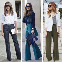 Calças de alfaiataria deixam qualquer produção mais elegante! Escolha certeira para o look de trabalho (formal ou descontraído).