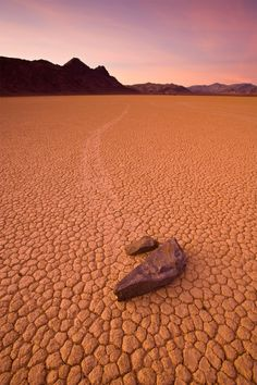 """Sailing stones - Good topic to illustrate the process of the scientific method.  Learn about this """"mystery,"""" the many theories proposed and tested to explain it(Netflix features a series called """"Weird or What?"""" with a segment about the moving rocks in the first episode that would be good to watch), then read about/watch this 2014 discovery as to the real reason these rocks move."""