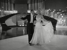 Ginger Rogers in Swing Time; gorgeous dress; rhinestone straps cross in the back