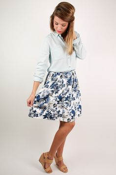 This floral skirt is perfect for any occasion!