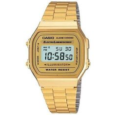 This old-school gold Casio watch that's sort of like your nerdy childhood calculator watch but upgraded ($29).