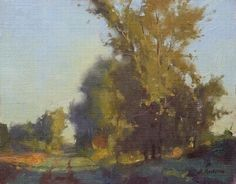 County Rd 9, Morning by Marc Hanson Oil ~ 8 x 10