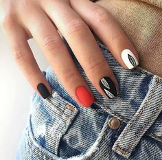 Matte nails are so popular in the beauty world these days. In case you were looking for perfect nails, we have picked out 40 matte nail designs for you to try. Colorful Nail Designs, Acrylic Nail Designs, Nail Art Designs, Matte Nail Colors, Matte Acrylic Nails, Color Nails, Love Nails, Pretty Nails, My Nails
