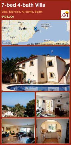 7-bed 4-bath Villa in Villa, Moraira, Alicante, Spain ►€495,000 #PropertyForSaleInSpain