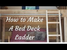 How to make a tiny house / shepherds hut, bed deck / loft ladder - YouTube