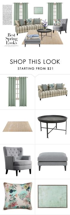 """""""Spring in Your Living Room"""" by eve4ever ❤ liked on Polyvore featuring interior, interiors, interior design, home, home decor, interior decorating, H&M, ABC Italia, Madura and John-Richard"""