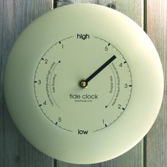 stainless steel tide clock cream by ashortwalk | notonthehighstreet.com