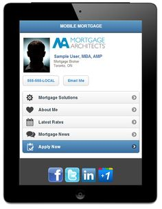 This mobile website design for Mortgage Brokers and Mortgage Agents creates your online business card as a quick and easy way to connect.