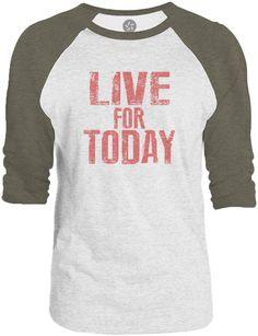 Big Texas Live for Today (Red) 3/4-Sleeve Raglan Baseball T-Shirt