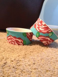 Lilly Pulitzer Inspired Dog Bowls. $35.00, via Etsy.