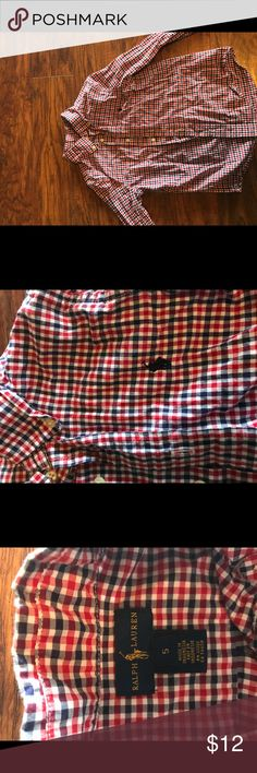 Ralph Lauren button up shirt Red white and blue checked Ralph Lauren button up shirt Ralph Lauren Shirts & Tops Button Down Shirts
