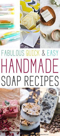 I have been wanting to do a collection of Handmade Soap Recipes for some time now and I thought it was a good time to put one together for you.  This array includes all kinds of soaps, many of them very quick and easy.  You will probably love them all and won't know which one …