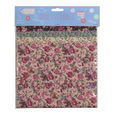 Pack of 5 A4 floral adhesive fabrics. A great gift idea for Christmas. www.athomeshopping.co.uk £3.99