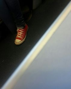 Shoes on a train.