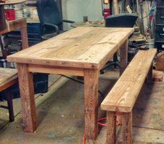 From 120 year old rough-cut structural lumber to farm tables!
