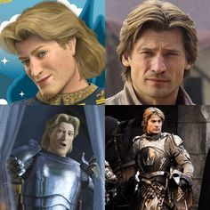 Prince Charming (Shrek) and Jaime Lannister ( Game of Thrones)...  Same person?  I think so!