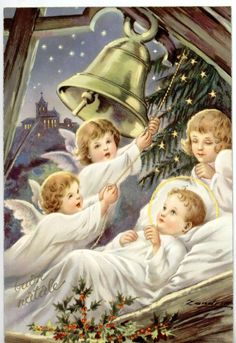 Christmas Nativity Scene, Christmas Scenes, A Christmas Story, Christmas Pictures, Christmas Angels, Christmas Art, Christmas Greetings, Illustration Noel, Christmas Illustration