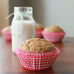 Almond butter banana oat muffins. Gluten free. Heavenly combination. After all, nut butter and banana are best friends!