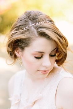 Organic boho style headband and matching cuff bracelet with real pearls and crystals by One World Designs Bridal Jewelry