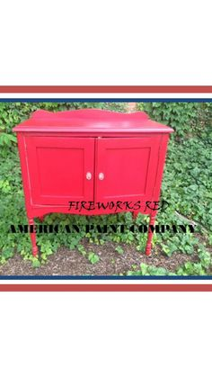 American Paint Companys  Fireworks Red and Top coat #APC #chalk #paint
