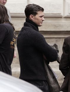 Jamie Dornan on set of Anthropoid in Prague - 16 August 2015      ,The Perfect Profile
