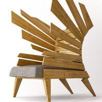 #wooden #wood #slabs #seat #creative #design #furniture