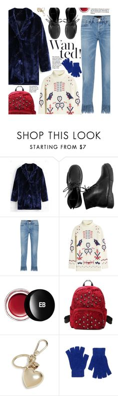 """""""Untitled #4071"""" by beebeely-look ❤ liked on Polyvore featuring 3x1, Claudia Schiffer, Edward Bess, Furla, Forever 21, casual, fauxfur, fauxfurcoats, gamiss and fuzzycoats"""