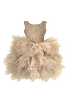 DOLLY by Le Petit Tom ® the PIROUETTE DRESS gold