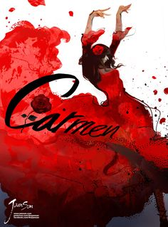 Opera Carmen Poster. 2012. Ok not a musical, an Opera, but still amazing :).