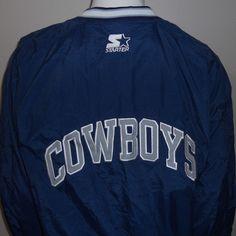 New Dallas Cowboys Starter Warm Up Jacket Large NFL Pro Line Football NWT #DallasCowboys #NFL