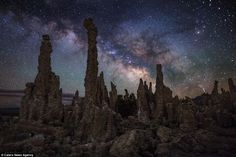 Out of this world: Mr Black credits modern camera technology with helping him to capture his images. Pictured: Mono Lake, California