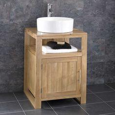 "Bathroom Cabinets 55cm 24"" riggs vanity with semi-recessed basin | small office bathroom"