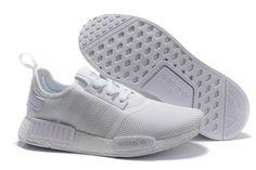 S79166 Adidas NMD Monochrome Runner PK Meisje Schoenen Alle Wit abcdf7712