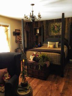 Primitive decor Primitive decorYou can find Primitive homes and more on our website. Primitive Homes, Primitive Country Bedrooms, Primitive Living Room, Country Primitive, Bedroom Country, Primitive Antiques, Primitive Bedding, Primitive Bathrooms, Primitive Kitchen