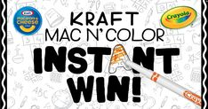 You could instantly win 1 of 100s of CRAYOLA PRIZES. Ends 3/1/21.