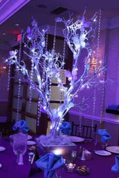 Butterfly Tree Centerpiece Butterfly Tree Centerpiece with LED Lights