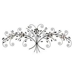 Metal Floral Alice Plaque