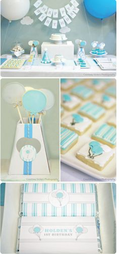 balloon themed baby shower- When/ if I have another baby i would like this theme for a boy or a girl!