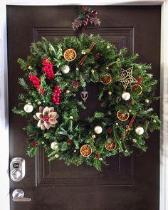 Christmas wreath Рождественский венок с апельсинами