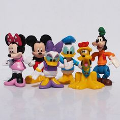 1set(6pcs) 6~8cm MICKEY & Minnie Mouse Donald Duck Cartoon Action Figure Childre's Toy Free shipping - http://manydolls.com/?product=1set-6pcs-6-8cm-mickey-minnie-mouse-donald-duck-cartoon-action-figure-childre-s-toy-free-shipping