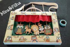 Inspirado do Kamishibai: maleta de historias criada por Cris Ulbrich
