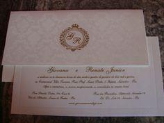 Convite de Casamento Tradicional Luxo