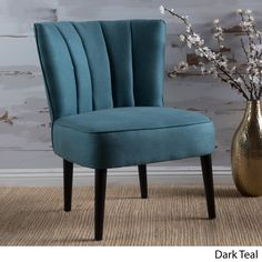 Erena Fabric Channel Accent Chair by Christopher Knight Home | Overstock.com Shopping - The Best Deals on Living Room Chairs