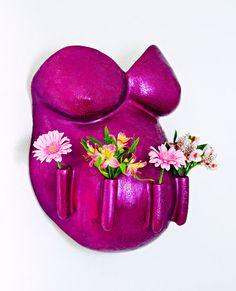 #Blumen #Gerbera #Vase #Babybauch #Gips #Schwangerschaft #Gipsabdruck #Babybauchabdruck